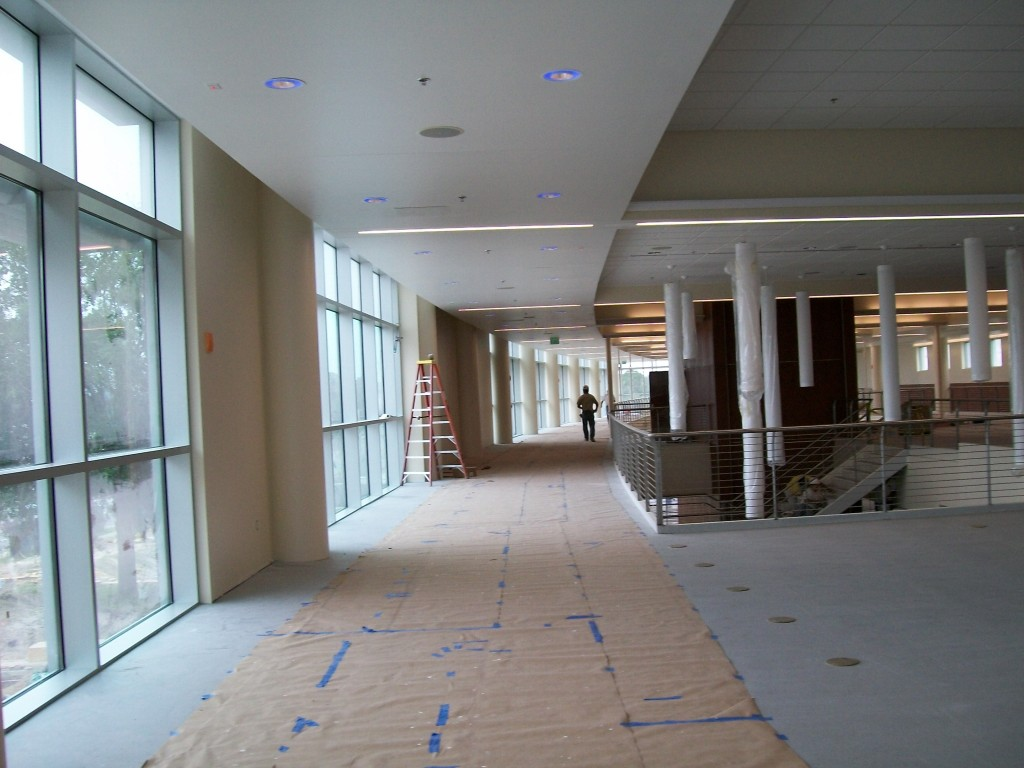 UCF Recreation Center construction cleanup
