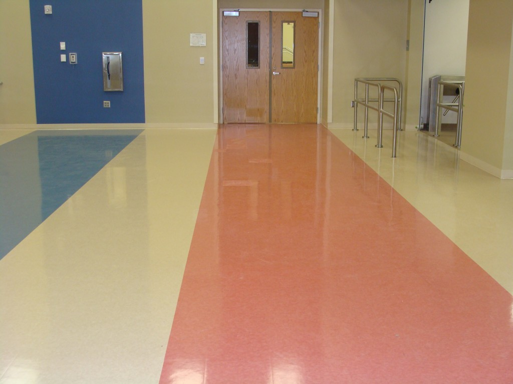 School floor cleaning by Detail Dynamics of Central Florida